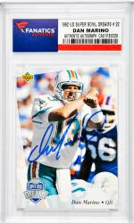 Dan Marino Miami Dolphins Autographed 1992 Upper Deck Super Bowl Moments #22 Card - Mounted Memories