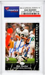 Dan Marino Miami Dolphins Autographed 1992 Upper Deck Super Bowl Moments #10 Card - Mounted Memories