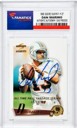Dan Marino Miami Dolphins Autographed 1995 Score Summit #27 Card - Mounted Memories