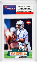 Dan Marino Miami Dolphins Autographed 1996 Collector's Edge #127 Card - Mounted Memories