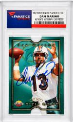 Dan Marino Miami Dolphins Autographed 1997 Scoreboard Playbook #TQ11 Card