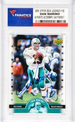 Dan Marino Miami Dolphins Autographed 2005 Upper Deck Legends #92 Card