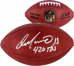 Dan Marino Miami Dolphins Autographed Duke Pro Football with 420 TDS Inscription