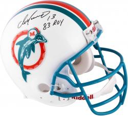 Dan Marino Miami Dolphins Autographed Riddell Pro-Line Authentic Throwback Helmet with 83 ROY Inscription
