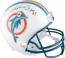 Dan Marino Miami Dolphins Autographed Riddell Replica Throwback Helmet with 83 ROY Inscription - Mounted Memories