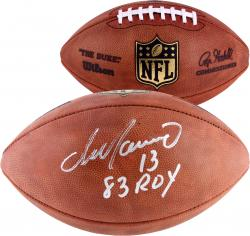 Dan Marino Miami Dolphins Autographed Duke Pro Football with 83 ROY Inscription - Mounted Memories