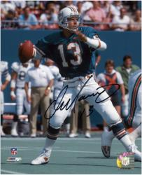 "Dan Marino Miami Dolphins Autographed 8"" x 10"" Black Ink Photograph"