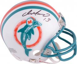 Dan Marino Miami Dolphins Autographed Riddell Throwback Mini Helmet