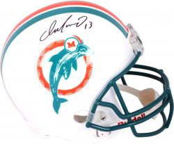 Dan Marino Miami Dolphins Autographed Riddell Replica Throwback Helmet - Mounted Memories