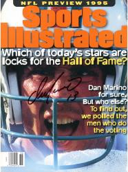 Dan Marino Miami Dolphins Autographed Sports Illustrated HOF Lock Magazine - Mounted Memories