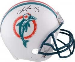Dan Marino Signed Helmet - Pro Line Riddell Authentic Throwback Mounted Memories