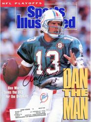 Dan Marino Miami Dolphins Autographed Sports Illustrated Dan The Man Magazine - Mounted Memories