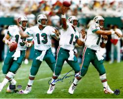 Dan Marino Miami Dolphins Autographed 16'' x 20'' Throwing Motion Photograph