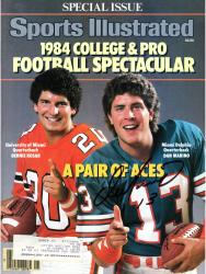 Dan Marino Miami Dolphins Autographed Sports Illustrated with Bernie Kosar Magazine - Mounted Memories