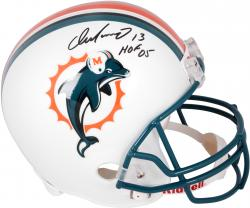 Dan Marino Miami Dolphins Autographed Riddell Replica Helmet with HOF 05 Inscription - Mounted Memories