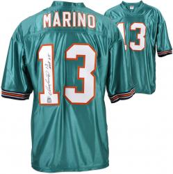"Dan Marino Miami Dolphins Autographed Custom Teal Jersey with ""HOF 05"" Inscription"