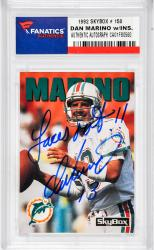 Dan Marino Miami Dolphins Autographed 1992 Skybox #150 Card with Laces Out Inscription - Mounted Memories