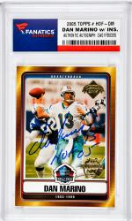 Dan Marino Miami Dolphins Autographed 2005 Topps HOF #HOF-DM Card with HOF 05 Inscription - Mounted Memories