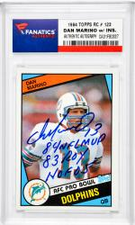 Dan Marino Miami Dolphins Autographed 1984 Topps #123 Rookie Card with Multiple Inscriptions