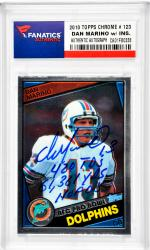Dan Marino Miami Dolphins Autographed 2010 Topps Chrome #123 Card with Multiple Inscription - Mounted Memories
