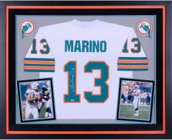 Deluxe Framed Dan Marino Autographed Miami Dolphins Jersey