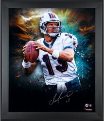 """Dan Marino Miami Dolphins Framed Autographed 20"""" x 24"""" In Focus Photograph-#13 of a Limited Edition of 24"""