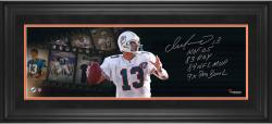 Dan Marino Miami Dolphins Framed Autographed 10'' x 30'' Filmstrip Photograph with Multiple Inscriptions-#1 of a Limited Edition of 13 - Mounted Memories