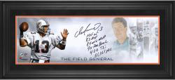 Dan Marino Miami Dolphins Framed Autographed 10'' x 30'' Field General Photograph with Multiple Inscriptions-#2-12 of a Limited Edition of 13 - Mounted Memories