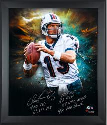 Dan Marino Miami Dolphins Framed Autographed 20'' x 24'' In Focus Photograph with Multiple Inscriptions-#2-12 of a Limited Edition of 13 - Mounted Memories