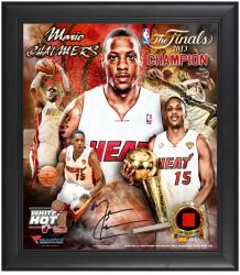 Mario Chalmers Miami Heat 2013 NBA Champions Framed 15x17 Multi-Photo Collage with Game-Used Jersey Piece - L.E. of 500