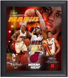 Miami Heat Mario Chalmers 2012 NBA Finals Champions Framed Collage with Game-Used Jersey - Limited Edition of 500