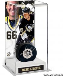 Mario Lemieux Pittsburgh Penguins Deluxe Tall Hockey Puck Case
