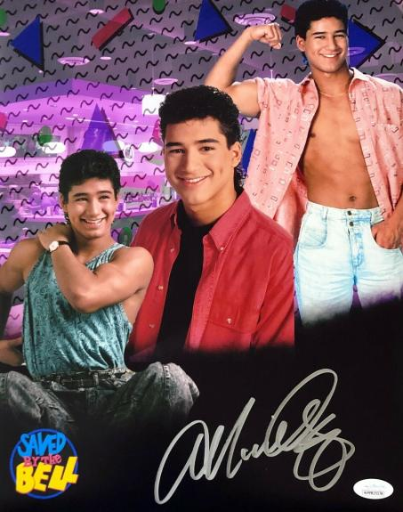 """Mario Lopez """"A.C."""" Autographed Signed  11x14 Photo JSA 2 Save by the Bell 1"""