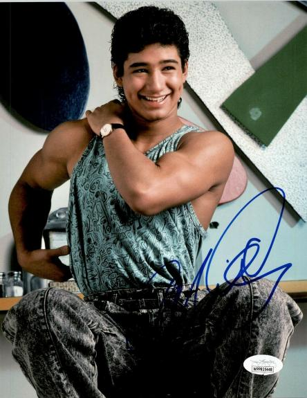 """Mario Lopez """"A.C."""" Autographed Signed  8x10 Photo JSA Save by the Bell 2"""