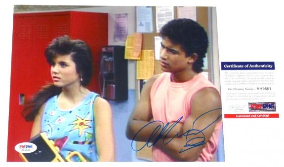Mario Lopez Autographed 8x10 Photo (saved By The Bell) - Psa/dna!
