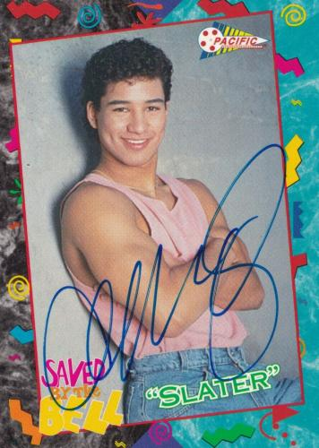 Mario Lopez Signed 1992 Pacific Saved By The Bell Card #24 COA Slater Autograph