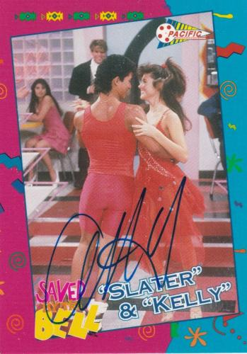 Mario Lopez Signed 1992 Pacific Saved By The Bell Rookie Card #83 RC Autograph