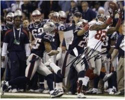 Mario Manningham New York Giants Super Bowl XLVI Autographed 8'' x 10'' Photo - Mounted Memories