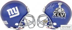 New York Giants Mario Manningham Super Bowl XLVI Autographed Riddell Pro Line Helmet