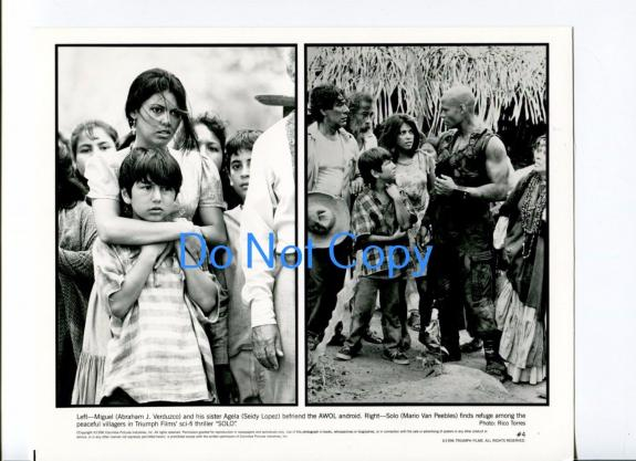 Abraham J Verduzco Seidy Lopez Mario Van Peebles Solo Original Press Movie Photo