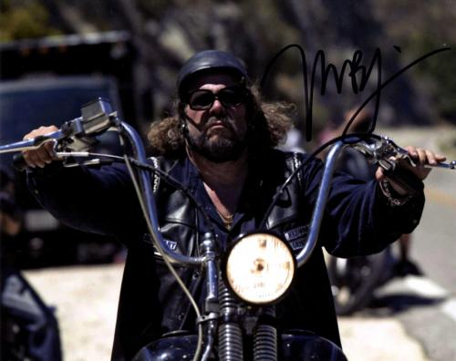 Mark Boone Jr. Autographed Signed 8x10 Motorcycle Photo AFTAL UACC RD COA