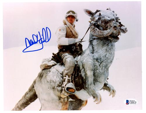 "Mark Hamill Autographed 8"" x 10"" Star Wars In Snow Photograph - BAS COA"