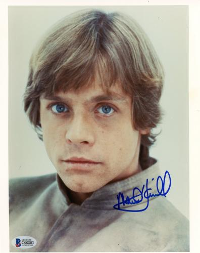 "Mark Hamill Autographed 8"" x 10"" Star Wars: The Empire Strikes Back Photograph - BAS COA"