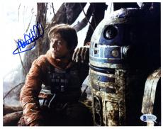 "Mark Hamill Autographed 8"" x 10"" Star Wars With RD2D Photograph - BAS COA"