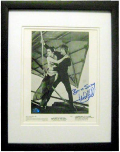 Mark Hamill autographed 8x10 photo (Star Wars Return of Jedi) signed to Scotty matted framed