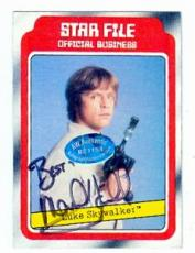 Mark Hamill autographed Empire Strikes Back card  1980 #2