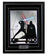 Mark Hamill Autographed Luke Skywalker Jedi Battle Star Wars 26x32 Frame