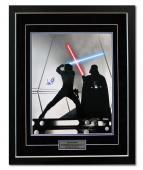 Mark Hamill Autographed Luke Skywalker Jedi Battle Star Wars 31x25 Premium Frame