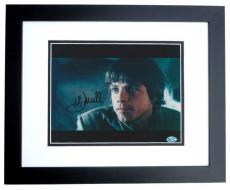 Mark Hamill Autographed Star Wars 8x10 Photo BLACK CUSTOM FRAME - Luke Skywalker