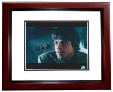 Mark Hamill Autographed Star Wars 8x10 Photo MAHOGANY CUSTOM FRAME - Luke Skywalker